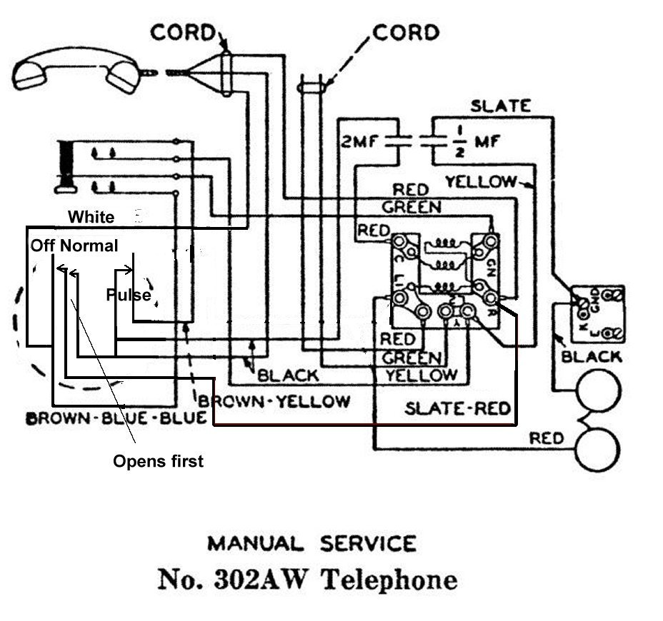 interesting telephone equpiment hungry hacker schematic jpeg of a 302 using an ae type 24 dial courtesy of atca online