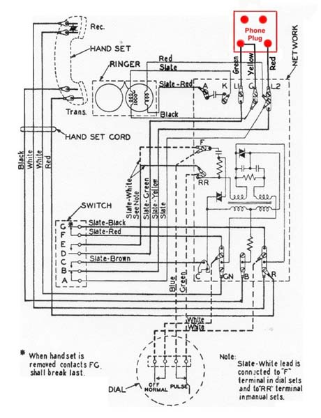 Rotary Dial Telephone Wiring Diagram